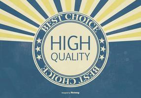 Retro hallo Qualität Werbe-Illustration vektor