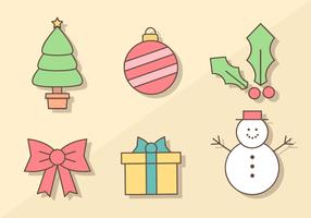 Kostenlose Weihnachten Elemente Vektor