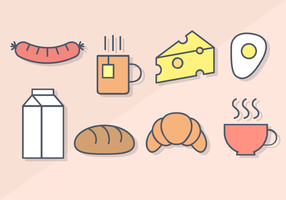 Gratis frukost mat vektor