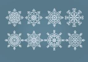 Vektor snöflingor uppsättning