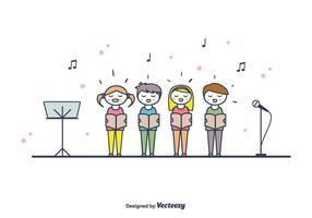 Kinder Chor Vektor