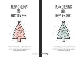 Weihnachten und Neujahr Vektor Hintergrund