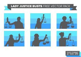 Dame Gerechtigkeit Büsten Free Vector Pack