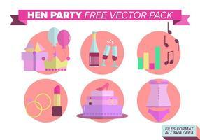 Hen party kostenlos vektor pack