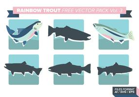 Regnbåge öring gratis vektor pack vol. 3