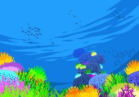 Meeresboden freien Vektor