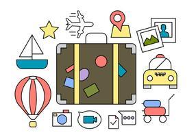 Kostenlose Reise-Icons vektor