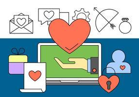 Gratis online dating ikoner vektor