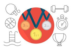Freie Sport-Ikonen vektor