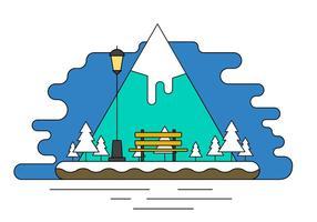 Landschaft Insel Vektor-Illustration vektor