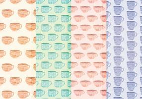 Vektor Aquarell Tassen Muster