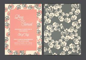 Vektor bröllop inbjudan