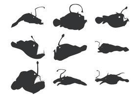 Angler Vektor Silhouetten