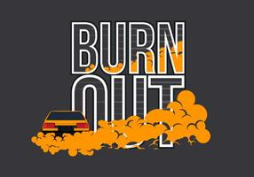 AE86 Auto Drifting und Burnout Illustration