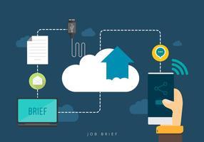Kombinieren Sie Mobile Job Brief vektor