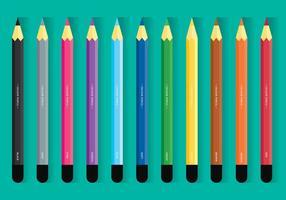 Färgpennissats vektor