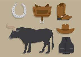 Bull-Fahrer-Vektor