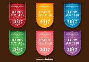 Neujahr 2017 Vector Labels