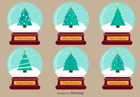 Jul Snow Ball Vector Illustrationer