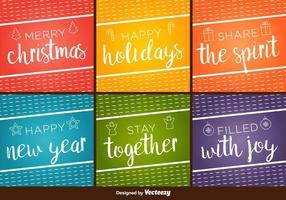 Frohe Feiertage Vektor Hintergründe