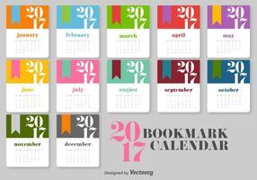 Kalender 2017 Vektor-Vorlage