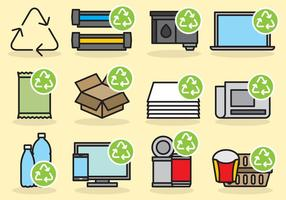 Nette Recycling Icons vektor