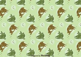 Walleye sömlöst mönster vektor