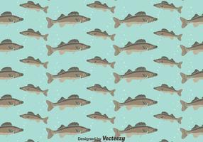 Walleye sömlös mönster bakgrund vektor