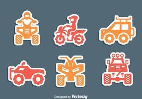 Offroad fordon ikoner vektor