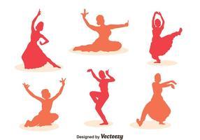 Frau Bollywood Tanz Vektor Sets
