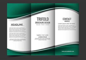 Free Vector Tri Fold Broschüre