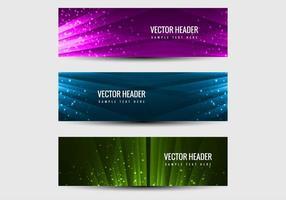 Free vector headers vektor gesetzt