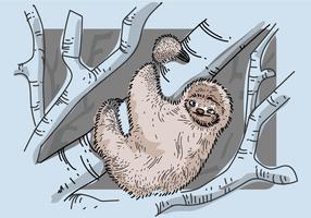 Free Sloth Vektor-Illustration vektor