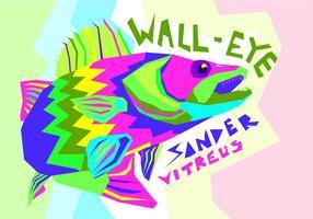 Gratis Walleye Vektorillustration vektor