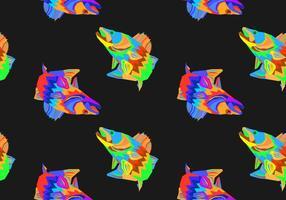 Gratis Walleye sömlös mönster vektor illustration