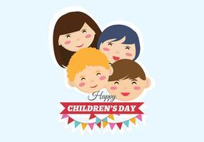 Barnens dagvektor vektor