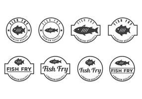 Free fish fry badge vektoren