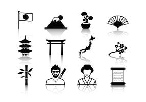 Freie japanische Ikonen Vektor
