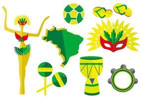 Free Brasilien Element Vektor-Illustration vektor
