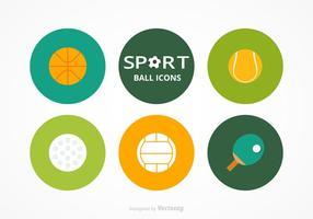 Kostenlose Sport Bälle Vektor Set