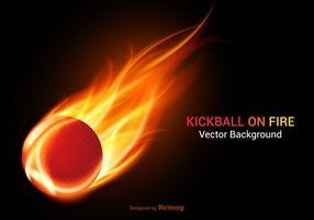 Free Kickball auf Feuer Vektor Hintergrund