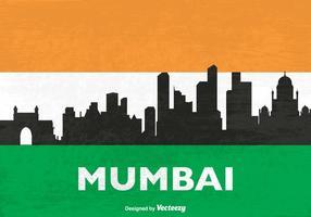 Kostenlose Skyline Mumbai Vector Silhouette