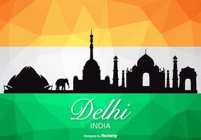 Gratis Vector Delhi Skyline Silhouette