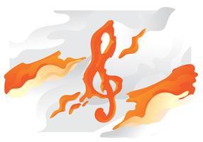 Orange Lava Violinschlüssel