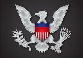 Gratis platt Presidential Seal Vector Design