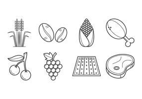 Freie Landwirtschaft und Landwirtschaft Icon Vektor