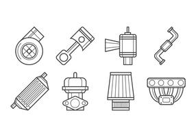 Gratis Turbo Kit Ikon Vector