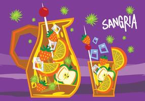 Sangria retro illustration