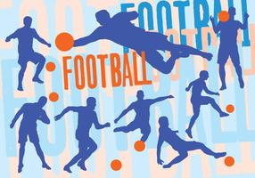 Fotbollssilhouettuppsättning