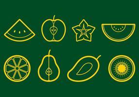 Frucht Icon Set